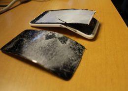 Överkörd mobiltelefon, rädda data mobiltelefon