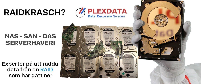 Raid gått ner, trasig raid, rädda data raidkrasch, raidhaveri, dataräddning raid, raidrecovery